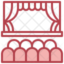 Theater Curtains Stage Icon
