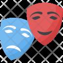 Carnival Masks Comedy Icon