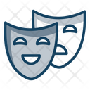 Theatre Masks Comedy Masks Humor Icon