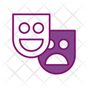 Theatre Mask Movie Icon