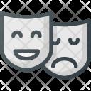Theatre Mask Leisure Icon