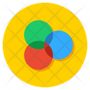 Interlocking Circles Diagram Overlapping Circles Intersection Icon