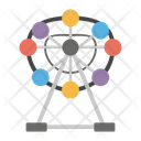 Theme Park Amusement Park Ferris Wheel Icon