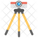 Theodolite with Tripod Icon