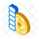 Thermal Label Isometric Icon