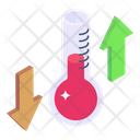 Temperature Up Down Thermodynamics Temperature Variation Icon