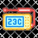 Thermometer Probe Measuring Icon
