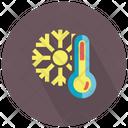 Thermometer Snow Flake Icon