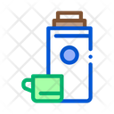 Camping Thermos Drink Icon