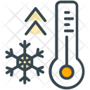 Thermostat Thermometer Snowflake Icon