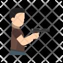 Thief Holding Pistol Icon