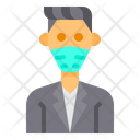 Thin Man With Facemask Icon