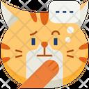 Think Emoticon Cat Icon