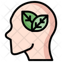 Think Green Eco Mind Eco Brain Icon