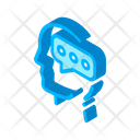Message Mind Silhouette Icon