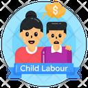 Child Labour Child Labour Banner Think Of Money Icon