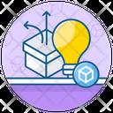 Think Outside Box Creative Thinking Product Idea Icon
