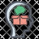 Think Outside Thinking Mind Creative Idea Icon