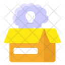 Think Outside Box Creative Thinking Mind Box Icon