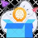 Big Idea Think Outside Box Lateral Thinking Icon