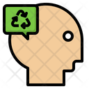 Thinking Recycle Ecology Icon