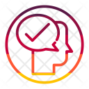 Thinking Mind Approve Icon