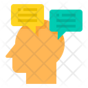Human Mind Vision Conversation Icon