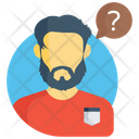 Confused Person Faq Thinking Icon