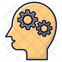 Head With Gear Thinking Reflecting Icon
