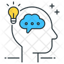 Thinking Brain Meditation Icon