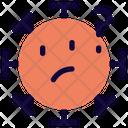 Thinking Coronavirus Emoji Coronavirus Icon