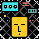 Thinking Head Idea Icon