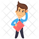 Thinking Businessman Icon