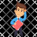 Thinking Holding File Icon