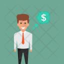 Money Dollar Wages Icon