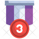 Third Place Medal Third Number Medal Medal Icon