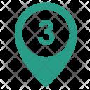 Three Number Way Icon