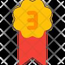 Third Rank Badge Bronze Icon