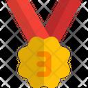 Third Rank Medal Bronze Icon