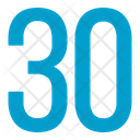 Thirty Numbers Icon