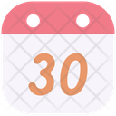 Thirty Event Time Icon