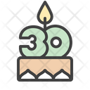 Cake Pie Candles Icon