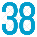 Thirty Eight Numbers Icon