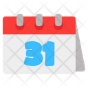 Thirty One Date Thirty One Schedule Icon