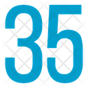 Thirty Five Numbers Icon