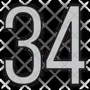 Thirty Four Icon