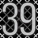 Thirty Nine Icon