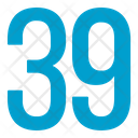 Thirty Nine Numbers Icon