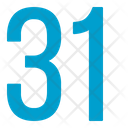 Thirty One Numbers Icon