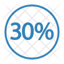 Thirty Percent Discount Icon